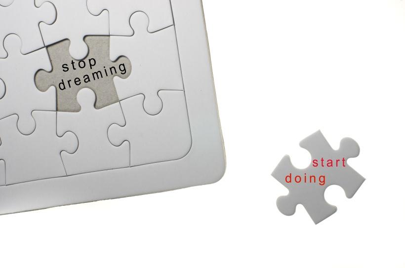 Inspirational Motivating Quotation :stop dreaming start doing